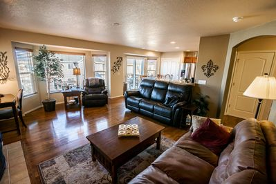 Family Room conveniently opens to the Kitchen!