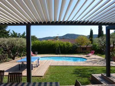 Photo for South facing villa, 2 steps from the village of beausset, heated pool, very quiet