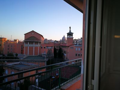 Photo for Vatican-2 bedrooms view on San Pietro-wifi-air cond-large balcony