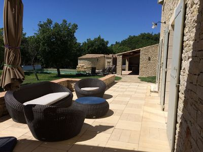 Photo for Gordes in the Luberon, Large Mas, heated pool, barbecue, petanque.