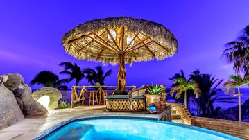 Why not be Oceanfront for this price?  Arch views with Private beach and Palappa
