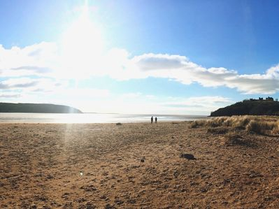 Llansteffan beach and castle which is well worth a visit