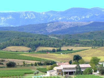 Photo for Traditional holiday on wine estate with private pool in South France