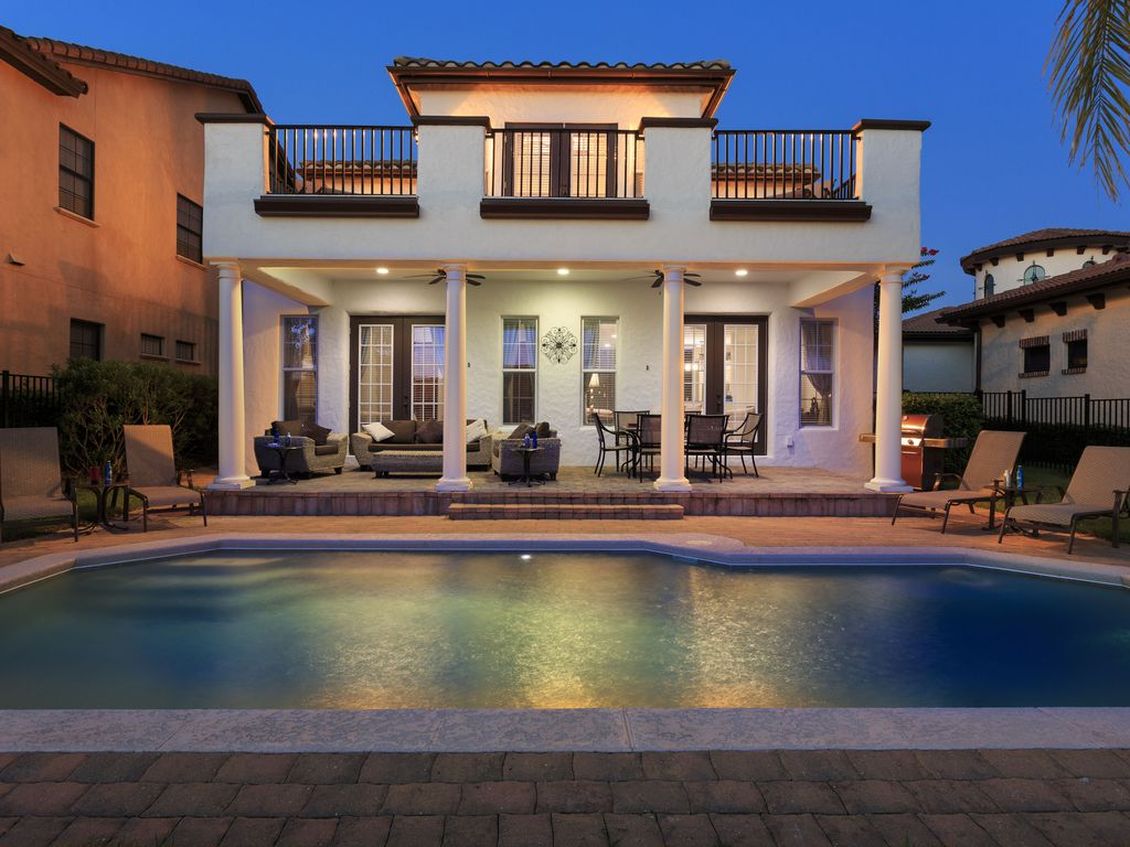 Luxury villa near disney the mediterranean homeaway for Luxury mediterranean villas