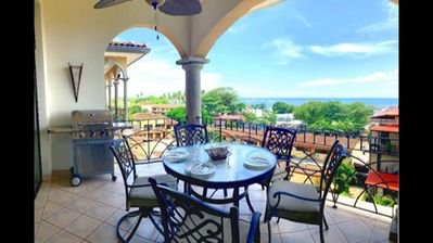 Photo for Ocean View 3 BR penthouse condo, steps from Tamarindo Beach! (SR48)