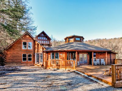 Photo for Spacious cabin + private swim spa for the ultimate mountain vacation