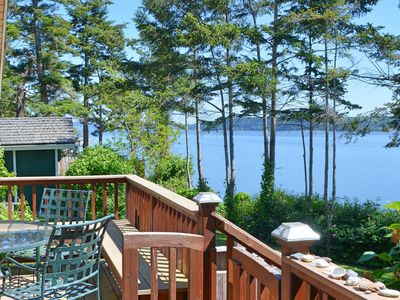 Photo for Custom, Waterfront; Beach Stairs; Gourmet Kitchen; Fire Pit