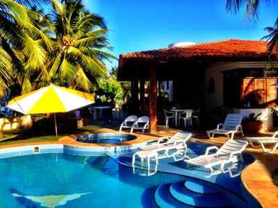 Photo for Vacation home in Flecheiras, pool, sea front