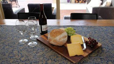 Enjoy fine dining with local cheeses and wine
