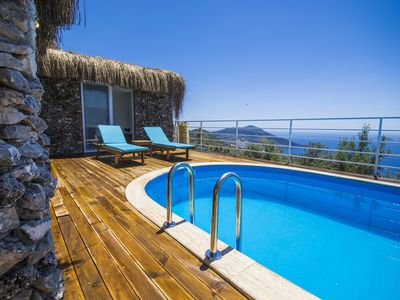 Photo for Romantic Secluded Honeymoon Villa with Spectacular Sea Views & Heated Pool