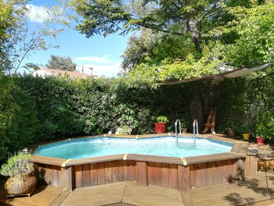 Photo for Large studio ds garden with swimming pool