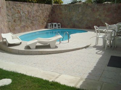 Photo for House w / 95% of the indoor area, w / wi-fi, swimming pool, 3 ensuite w / air, 1/4 single w / air