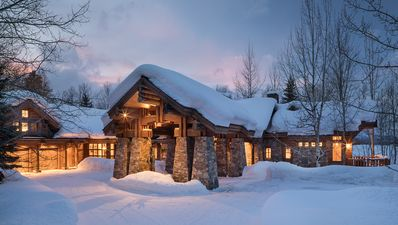 Photo for Grand Six Bedroom Retreat with Teton Views and Elegant Design