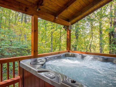 Photo for Secluded~Hot Tub~Game Room~Wifi~3 Large decks~10 State Parks close