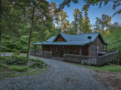 Photo for Cohutta Hideaway is a true log cabin tucked away on 2 acres with easy access to shopping. Pet-friend