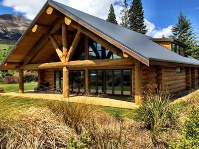 Photo for Glenorchy Log Home - Stunning Mountain Views