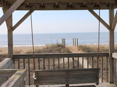 Photo for OAK ISLAND, NC- OCEANFRONT, SCREENED PORCH & GAZEBO W/SWING