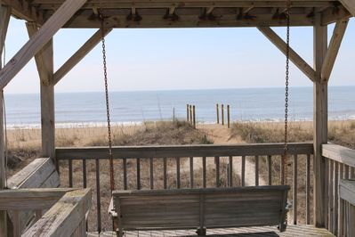 Nothing like Relaxing in the Cabana swing...New beach with soft sand