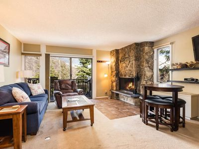 Photo for Snowmass Mountainside. Balcony, Pool & Hot Tub, Parking, Wood-Burning Fireplace. Next to Ski School!
