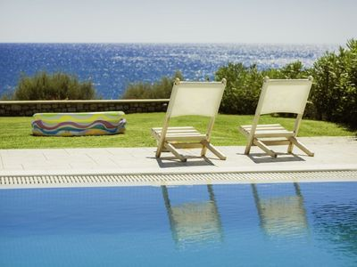 Photo for Stunning private villa for 6 guests with A/C, WIFI, private pool, TV, balcony and parking