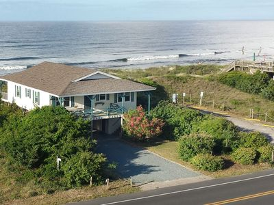 Photo for Surfsong: 4 Bed/2 Bath Oceanfront Home in Private Setting on West Beach