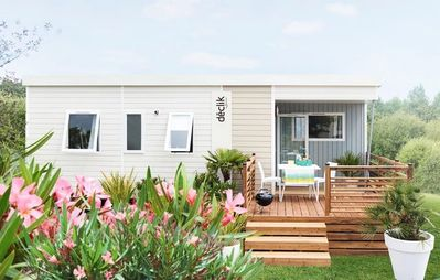 Photo for Camping Lake Biscarosse ***** - Mobile Home 4 Rooms 6/7 People