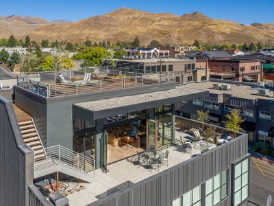 Photo for Modern mountain penthouse in downtown Ketchum with wrap-around deck and sweeping views