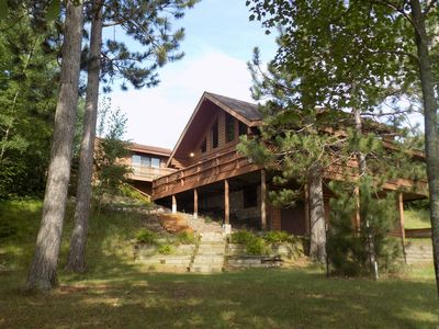 Photo for Beautiful Log Home on Peaceful Lake, with Guest Cabin