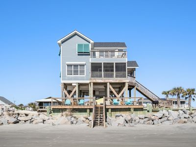 Photo for Oceanfront and Pet Friendly -Private Volleyball Ct, Spacious Deck and Screened in Porch