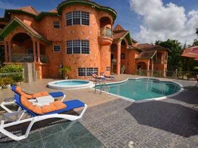 Photo for LARGE MANSION! FAMILY REUNIONS! WEDDINGS! Dream Castle Villa, Montego Bay 8BR