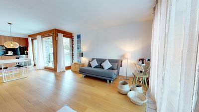 Photo for Modern, bright 1½ room apartment with a balcony in sunny and quiet location in M