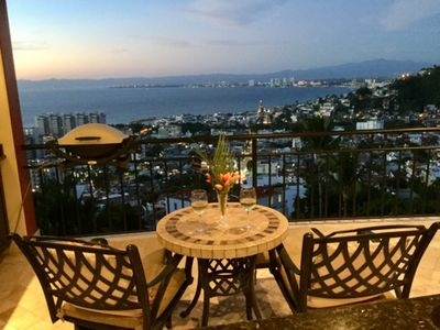 Photo for Stunning view of Banderas Bay and Puerto Vallarta in this family-friendly condo