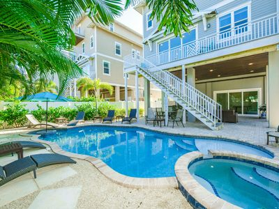 AMAZING GULF VIEWS. 3 Large Gulf Facing Balconies. Over 5000 Sq Ft. 8 BEDROOMS - SLEEPS 25. Heated Pool and Spa. Huge Patio Area. 2 Living Areas. Property Manager Program Included.