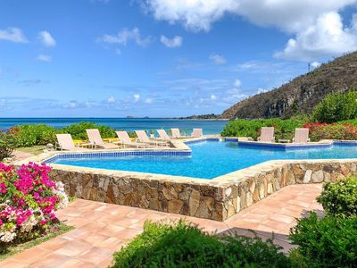 Photo for Luxury Five Bedroom Villa on the Beach with Private Pool, Tennis and Spectacular Sunsets