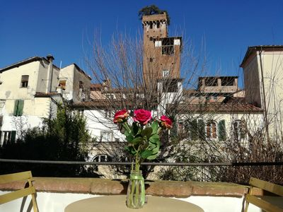 Photo for LE MELODIE DI LUCCA in the historical centre, terrace with view, free WiFi