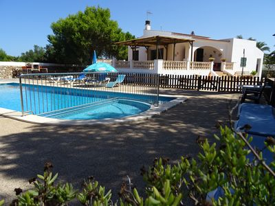 Photo for Peaceful nice house with a 12x5mt private fenced pool, 2000m garden close 2km C/Blanca beach– Free Internet