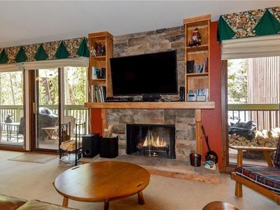 Photo for Quiet Keystone Condo great views just steps from hiking and the resort shuttle!
