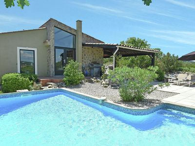 Photo for Luxury villa on hilltop with wide views, private & heated pool near famous Uzès
