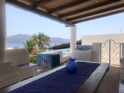 Photo for Casa Flora - Authentic Aeolian style house with large terrace overlooking the sea