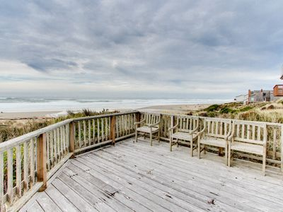 Photo for Oceanfront home - secluded, yet close to town