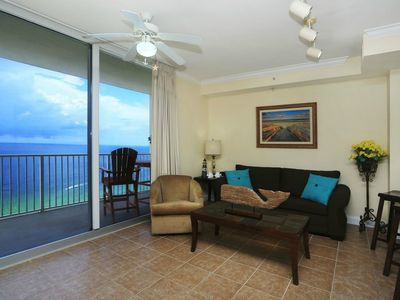 Photo for Luxury Beachfront Unit, Sleeps 6, Walk to Pier Park, Snowbirds Welcome!