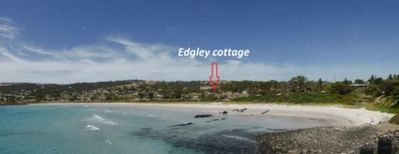 view from the ferry of Edgley cottage