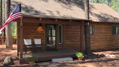 Photo for Camp O'llotta, a cozy cabin in the pines & the perfect ski/mountain retreat.
