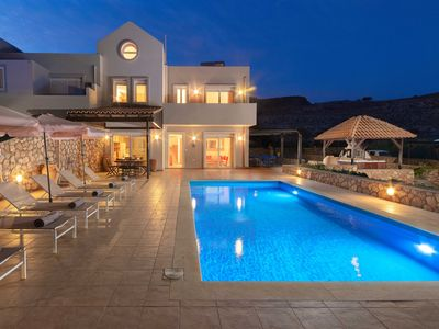 Photo for Villa Amara, Lindos, 3 bedroom villa with private pool and hot tub