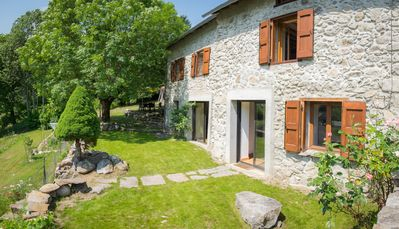 Photo for Beautiful renovated stone house with large garden in the heart of the Pyrenees