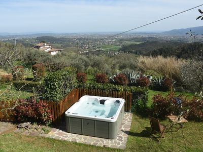 Photo for Tuscany: small rustic house on the Lucca hills with swimming pool and whirlpool
