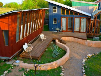 Our Funky 'Retreat Eco-Cabins' at Living Waters on Lake Travis (sleeps 8-10)
