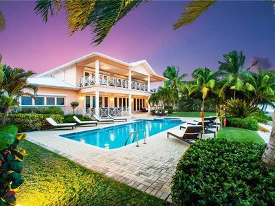 Photo for Villa Amarone: Oceanfront Villa Near Seven Mile Beach with Pool, Hot Tub, and Private Beach!