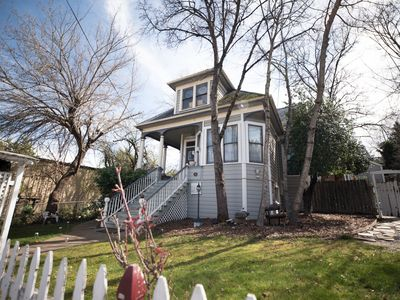 Photo for Savvy's Victorian, downtown true to era Luxury Victorian! 3 minute walk to town.