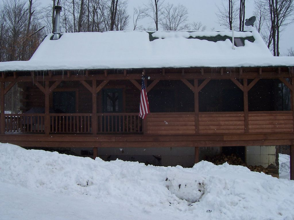 Rustic Luxury Log Cabin In The Woods Severance New York